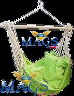 Кресло-гамак лайм 130*100 см с подушками