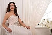 Изысканное платье макси с декорированным камнем лифом