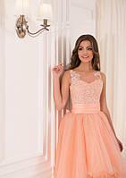 Роскошное вечерние платье с пышной асимметричной юбкой
