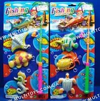 """Игровой набор Рыбалка """"Море"""" (1 удочка + 4 рыбки)"""