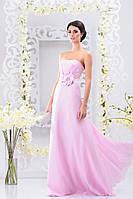 Изысканное платье с пышным атласной цветком