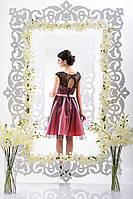 Оригинальное платье с кружевом и фатином