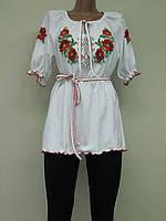 Женская вышиванка - туника Маки. Размер 38 - 62