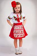 Детская вышиванка с коротким рукавом Мак