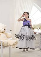 Пышное детское платье асимметричного кроя