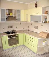 Недорогие кухни под заказ для небольшой квартиры или гостинки, корпус из ДСП, фасад МДФ