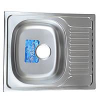 Мойка кухонная врезная 58*48 см декор Germece 0,8 мм