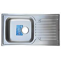 Мойка кухонная врезная 78*43 см микро-декор Germece 0,8 мм