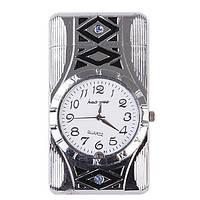 Зажигалка Часы с подсветочкой, подарок мужчине