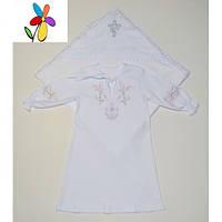 Крестильный комплект для девочки Крыжма и Рубашка. Размер 68 - 74