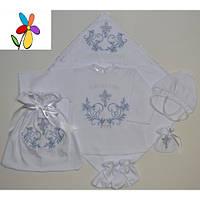 Крестильный комплект подарочный для мальчика. Размер 62 - 68