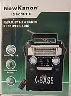 Улучшенный радиоприёмник для настоящих меломанов, New Kanon KN-60, плеер, FM/AM/SW1/SW2, пульт ДУ, караоке
