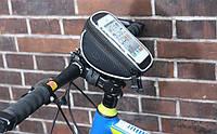 Велосумка нарульная Roswheel 11810 с отделением для смартфона и быстросъёмным универсальным креплением