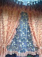 "Кухонный набор шторы+тюль+ламбрекен ""Марина"""