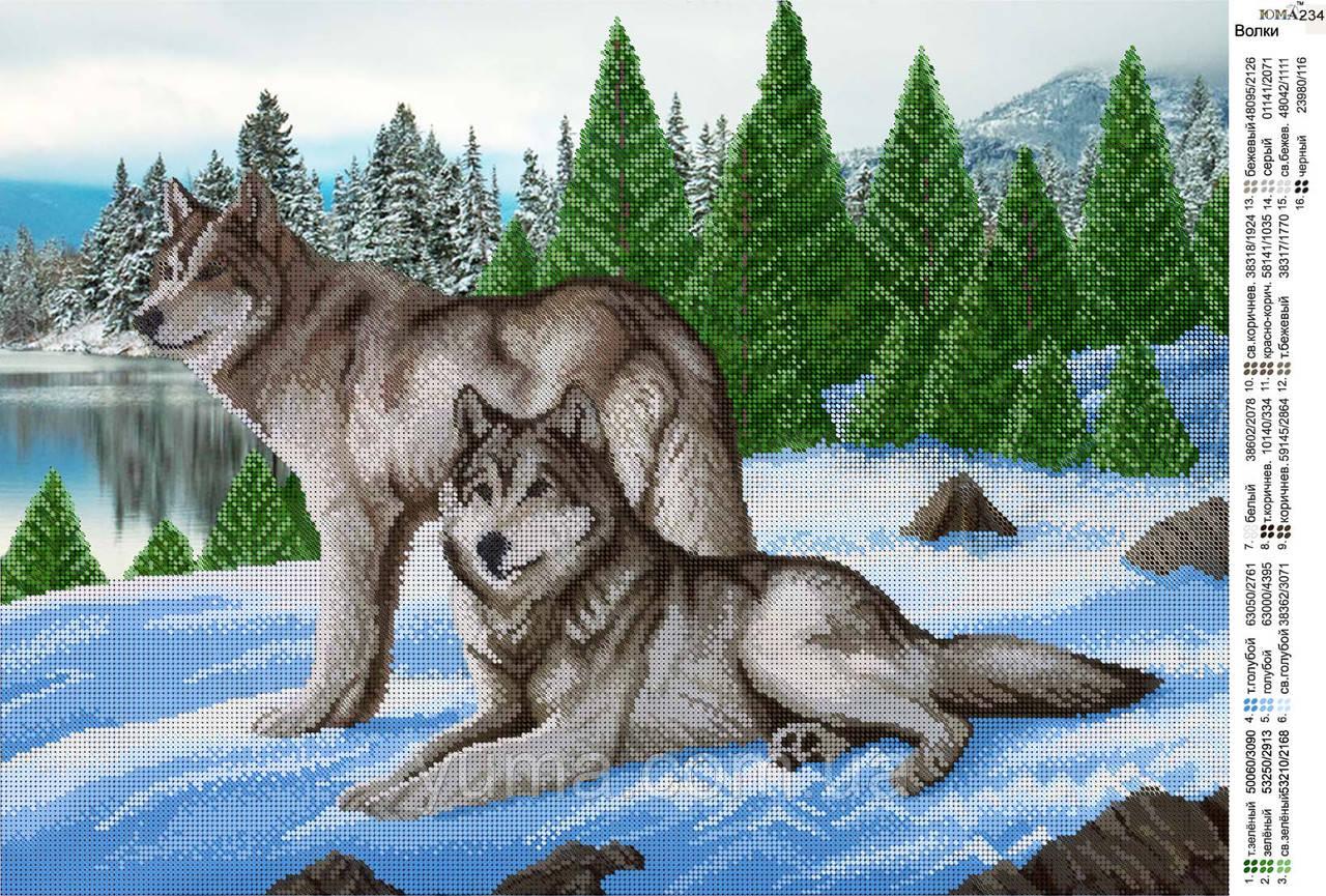 Волки вышивка бисером схемы 86
