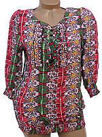 Яркая летняя блузка для женщин. Штапель (44)