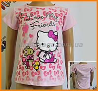 Детская футболка Hello Kitty для маленьких девочек