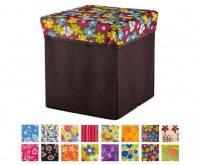 Ящик - пуфик Цветы,  органайзер для  хранения  игрушек, канцелярии, одежды