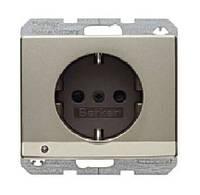 Розетка с з/к и защитой от детей с LED подсветкой 16А/250В Berker Arsys Бронзовый Лак (41099011)
