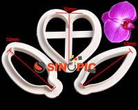 """Вырубка для мастики """"Орхидея Ванда"""" 3шт(02115)"""