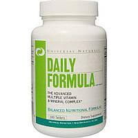 Комплекс витаминов и микроэлементов Daily Formula (100 табл.) Universal Nutrition