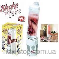 ТОП ВЫБОР! Блендер для приготовления коктейлей, мини блендер Shake N Take, Блендер Shake 'n Take, sha 1000273
