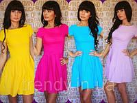 Платье мини летнее приталенное в ярких расцветках 164