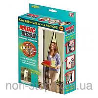 ТОП ВЫБОР! Москитная сетка на магнитах Magic Mesh - 1000339 - антимоскитная сетка, меджик меш, сетка от насекомых, защита от насекомых, против Killer