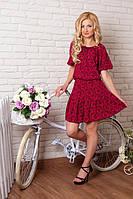 Модное женское платье материал штапель с открытыми  плечами