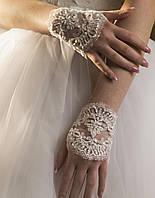 Свадебные перчатки 15-131 (короткие, белые)