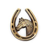 """Подкова на удачу медная """"Лошадь - символ жизненной силы"""" S586"""