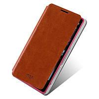 Кожаный чехол книжка Mofi для Sony Xperia Z1 Compact D5503 коричневый