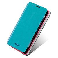 Кожаный чехол книжка Mofi для Sony Xperia Z1 Compact D5503 бирюзовый