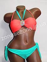 Женский купальник Teres 2083D-6 оранжевый со съёмными лямками