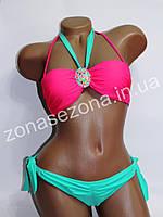 Женский купальник Teres 2083D-6 розовый со съёмными лямками