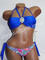 Женский купальник Teres 2189 синий со съёмными лямками