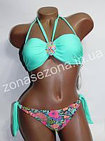 Женский купальник Teres 2189 бирюзовый со съёмными лямками