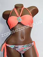 Женский купальник Teres 2189 оранжевый со съёмными лямками