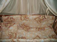 """Детское постельное белье """"Мишки спят"""", персиковый, комплект  из 9-ти предметов в чемодане"""