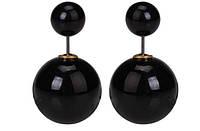 Серьги шарики Dior черные