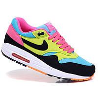 Женские кроссовки Nike Air Max 87 moon black yellow pink Original