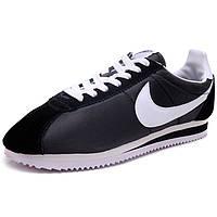 Мужские кроссовки женские кроссовки Nike Classic Cortez Nylon 09 (Black/white) Original