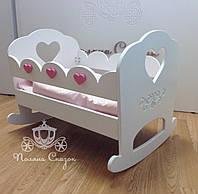 """Кукольная кроватка """"Baby love"""" МДФ, ольха"""