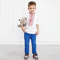 Вышитая футболка с коротким рукавом для мальчика к школе