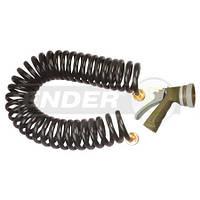 """Шланг поливочный спиральный ENDER, диаметр 3/8"""", 8 настроек струи распылителя, универсальный"""