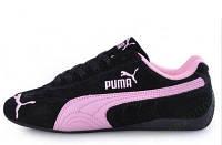 Модные кроссовки для женщин Puma Ferrari Low-06, замш/кожа, мягкие, удобные, р-ры 36-37, бренд