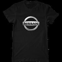 Футболка с печатью принта логотип Nissan