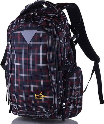 Мужской качественный городской рюкзак 27 л. Onepolar (Ванполар) W1572-black