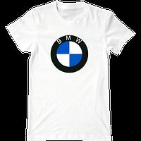 Футболка с печатью принта логотип BMW