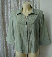 Блузка рубашка женская вискоза хамелеон батал бренд Wallis р.54